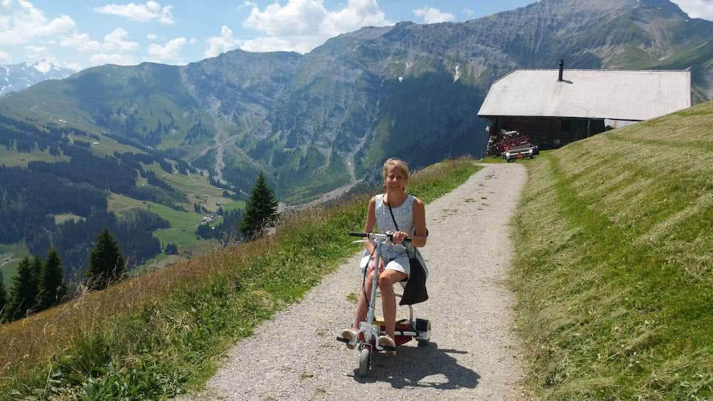 Annika Lüthi has her life back thanks to the incredible TravelScoot!